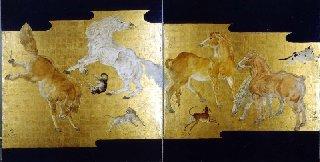 Yeah! 「馬の図」 の名がついた藤田嗣治作の大きな素晴らしい油絵★パリ日本人の財産(笑)♪